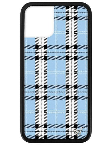 Wildflower - Blue Plaid iPhone 11 Pro Phone Case