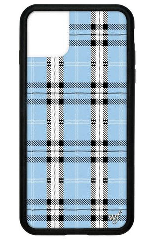 Wildflower - Blue Plaid iPhone 11 Pro Max Phone Case