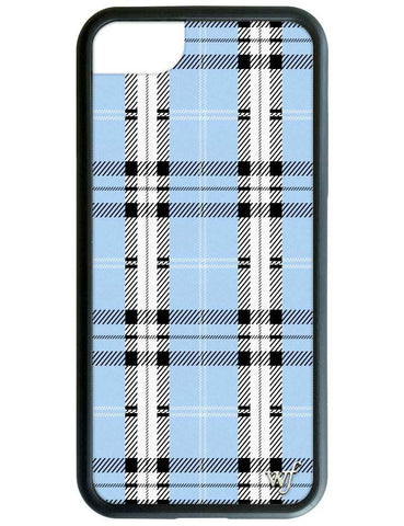 Wildflower - Blue Plaid iPhone XR Case
