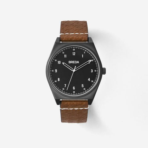 Breda Shepherd Gunmetal / Brown Watch