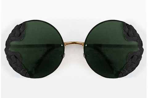 Spitfire - British Riviera Gold & Black Sunglasses, Black Lenses