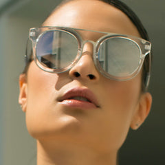 Quay Brooklyn Clear / Silver Sunglasses