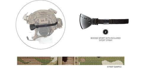 Smith - Boogie Sport Multicam 15mm  Goggle Strap /  Lenses