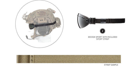 Smith - Boogie Sport Tan 15mm  Goggle Strap /  Lenses