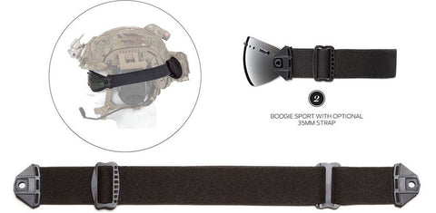 Smith - Boogie Sport Black 35mm  Goggle Strap /  Lenses