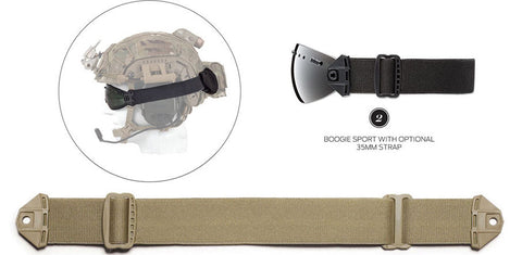Smith - Boogie Sport Tan 35mm  Goggle Strap /  Lenses