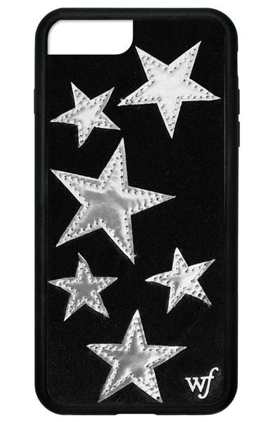 Wildflower - Black Velvet Silver Stars iPhone XS Max Case