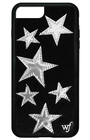 Wildflower - Black Velvet Silver Stars iPhone XS/X Case