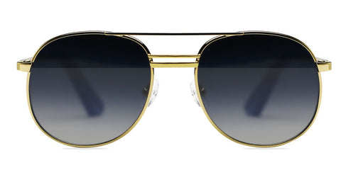 Elizabeth and James - Watts Gold Sunglasses / Blue Gradient Lenses