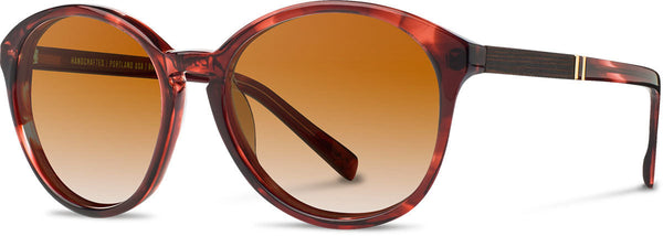 Shwood - Bailey Acetate Sangria / Brown Fade Sunglasses