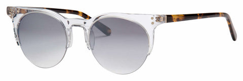 Banana Republic - Stevie Crystal Sunglasses / Gray Mirror Shaded Silver Lenses