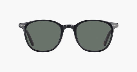 Garrett Leight - Beach Black Sunglasses / Gold G15 Lenses