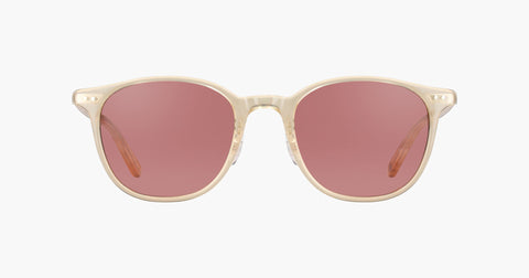 Garrett Leight - Beach Blonde Sunglasses / Silver Bordeaux Lenses