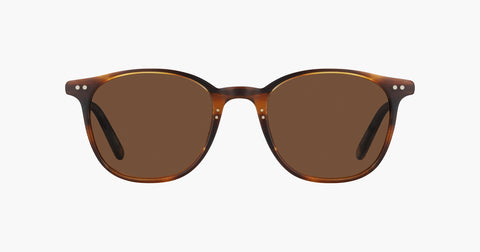 Garrett Leight - Beach Matte Mahogany Tortoise Sunglasses / Matte Gold Oak Lenses
