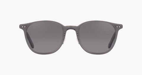 Garrett Leight - Beach Matte Grey Crystal Sunglasses / Brushed Silver Black Lenses