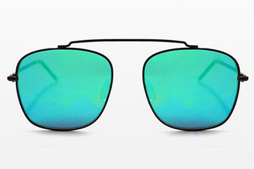 Spitfire Beta Matrix Black Sunglasses, Green Mirror Lenses