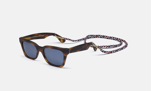 Super America Seafar Havana Sunglasses / Black Lenses
