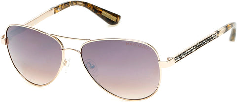 Marciano - GM0754 Gold Sunglasses / Brown Mirror Lenses