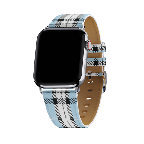 Wildflower - Blue Plaid 42mm-44mm Apple Watch Band