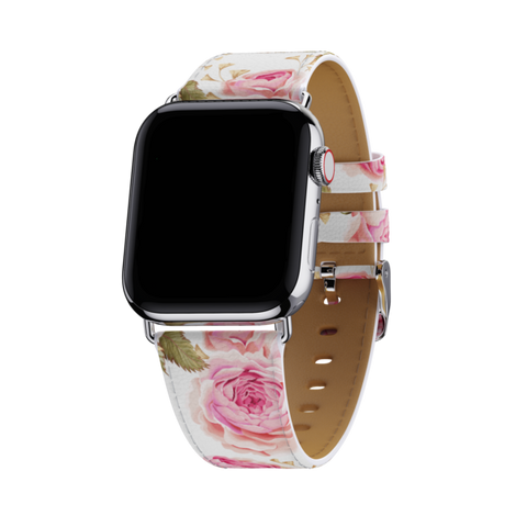 Wildflower - White Floral 42mm-44mm Apple Watch Band