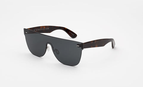 Super Flat Top Screen Black Sunglasses / Black Lenses