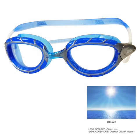 Zoggs - Predator Next Gen Blue Swim Goggles / Clear Lenses
