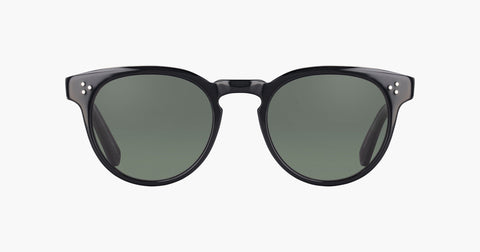 Garrett Leight - Boccaccio Black Laminate Crystal Sunglasses / G15 Lenses
