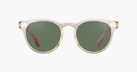 Garrett Leight - Boccaccio Nude Sunglasses / Green Lenses