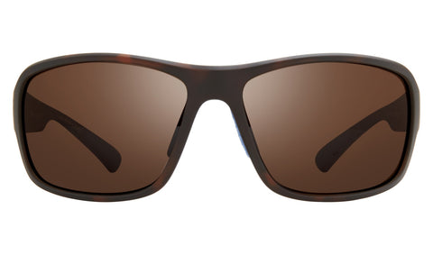Revo - Border 63mm Matte Tortoise Brown Sunglasses / Terra Lenses