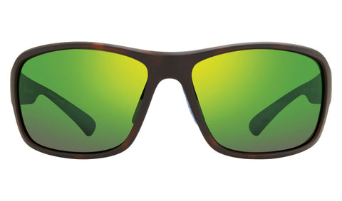 Revo - Border 66mm Matte Tortoise Sunglasses / Green Water Polarized Lenses