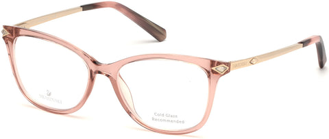 Swarovski - SK5296 Shiny Rose Gold Eyeglasses / Demo Lenses