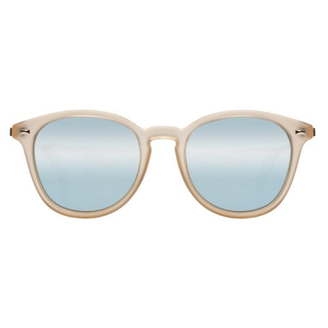 Le Specs - Bandwagon Raw Sugar Sunglasses / Ice Blue Revo Mirror Lenses