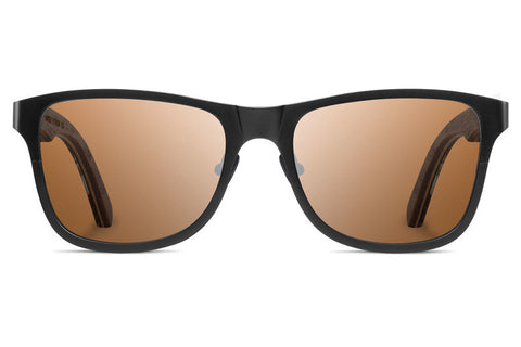 Shwood - Canby Titanium Pinecone Black / Brown Polarized Sunglasses
