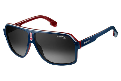 Carrera - 1001/S Blue / Red Sunglasses, Dark Gray Gradient Lenses
