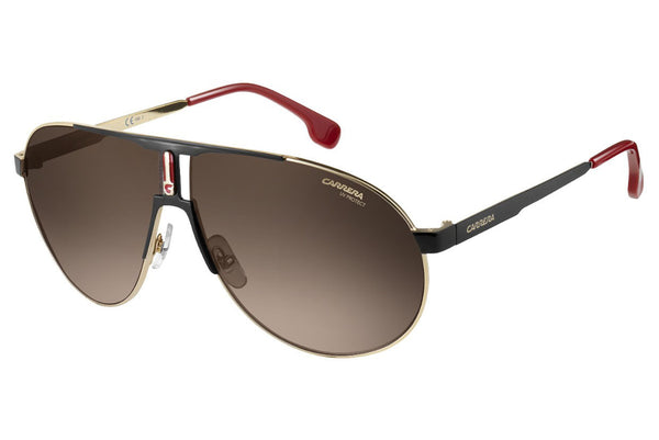 Carrera - 1005/S Black / Gold Sunglasses, Brown Gradient Lenses