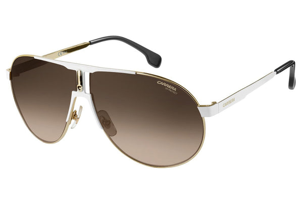 Carrera - 1005/S White Gold Sunglasses, Brown Gradient Lenses