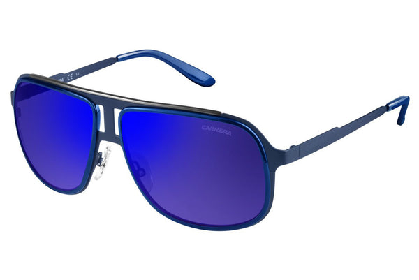 Carrera - 101/S Blue Ruthenium Sunglasses, Blue Sky Mirror Lenses
