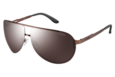 Carrera - 102/S Semi Matte Brown Sunglasses, Brown Silver Mirror Lenses