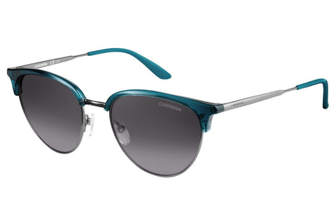 Carrera - 117/S Dark Rust Teal Sunglasses, Gray Mirror Shaded Silver Lenses
