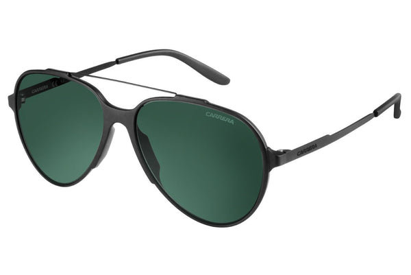 Carrera - 118/S Semi Matte Black Sunglasses, Green Foster Lenses