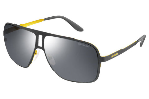 Carrera - 121/S Matte Gray Sunglasses, Black Mirror Lenses