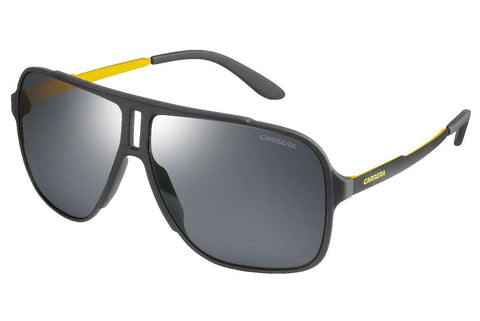 Carrera - 122/S Gray Sunglasses, Black Mirror Lenses