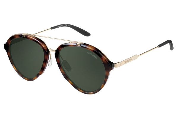 Carrera - 125/S Havana Gold Sunglasses, Green Lenses
