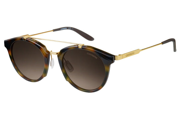 Carrera - 126/S Yellow Havana Gold Sunglasses, Brown Lenses