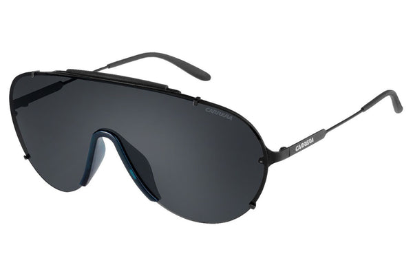 Carrera - 129/S Matte Black Sunglasses, Gray Lenses