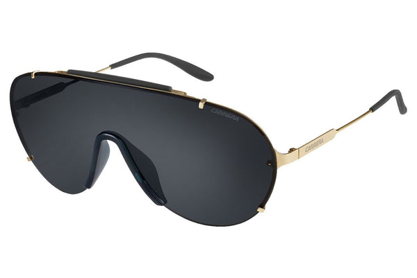 Carrera - 129/S Gold Sunglasses, Gray Lenses