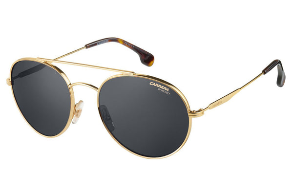 Carrera - 131/S Gold Sunglasses, Gray Blue Lenses