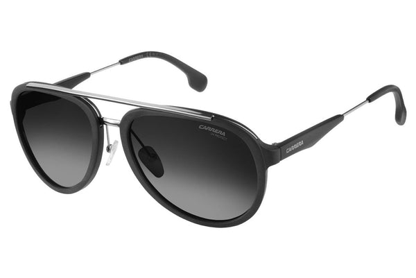 Carrera - 132/S Matte Black Ruthenium Sunglasses, Dark Gray Gradient Lenses
