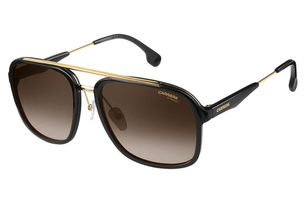 Carrera - 133/S Black Gold Sunglasses, Brown Gradient Lenses