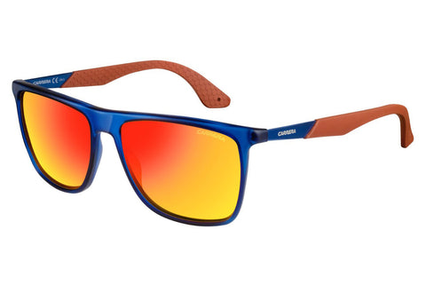 Carrera - 5018/S Blue Sunglasses, Red Mirror Lenses